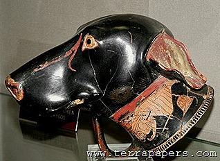 Αποτέλεσμα εικόνας για ελληνικός ιχνηλάτης αρχαιο αγγειο