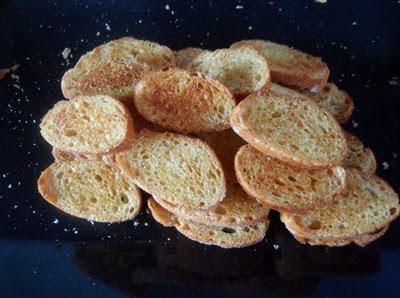 pan tostado con aceite y ajo