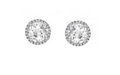 Kiki McDonough White Topaz Pave Studs Jewellery Every Woman should own