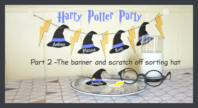 image relating to Printable Sorting Hat Quiz known as Silhouette United kingdom: Harry Potter Social gathering (aspect 2) Banner, scratch