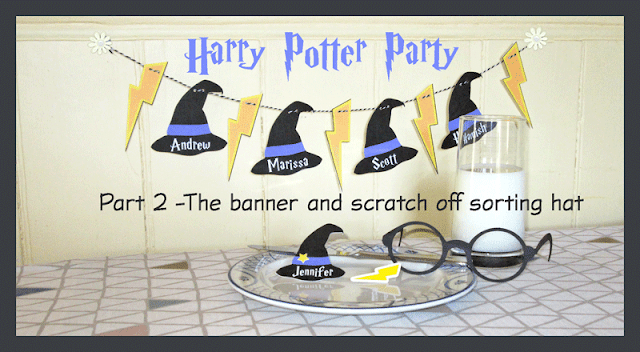 PaperspotUK Hilary Milne for Silhouette UK Harry Potter party #2