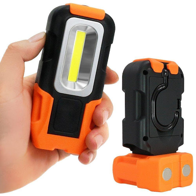 Portable LED Work Light with Magnetic Base & Hanging Hook