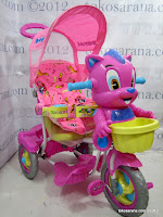 2 Sepeda Roda Tiga Royal RY9982CJ Baby Tom dengan Mainan Interaktif, New Canopy dan Jok Kain