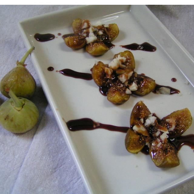 Higos con queso azul - Morrico Fino