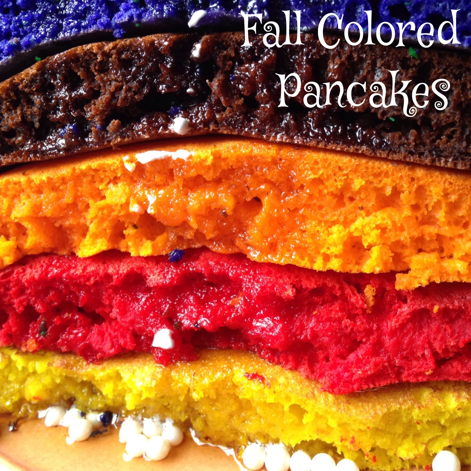 Fall Colored Pancakes | Turnips 2 Tangerines