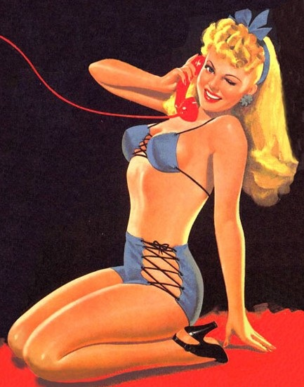 Vintage Paintings of Beautiful Woman's 40
