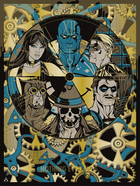 "Watchmen ""Nothing Ever Ends"" Screen Print by Anthony Petrie"
