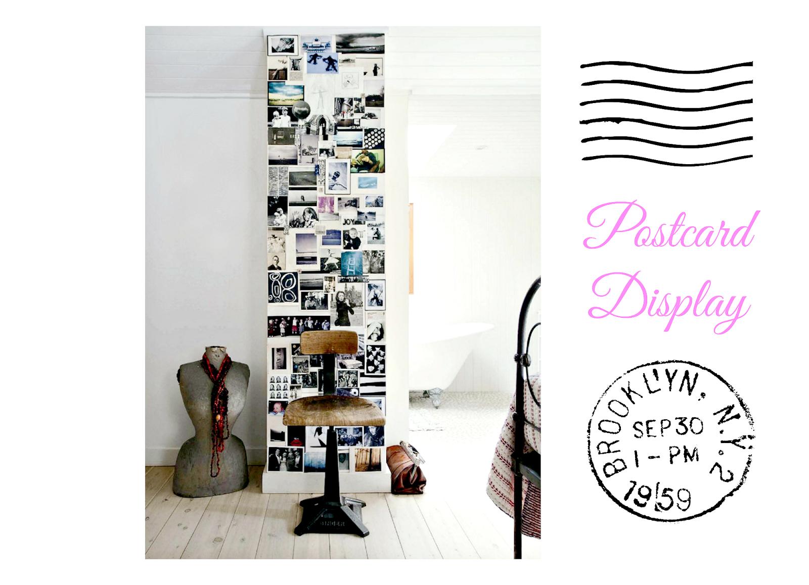 pocztówki na ścianie
