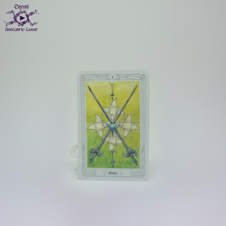 The Thoth Tarot (Sterling Ethos) - 2 of Swords