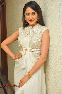 Actress Pragya Jaiswal Stills in Beautiful White Dress at turodu Audio Launch  0027.JPG