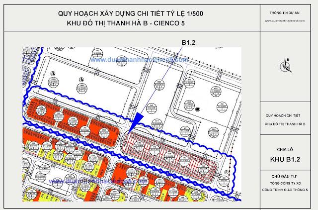 Sơ đồ khu B1.2 dự án Thanh Hà Cienco 5