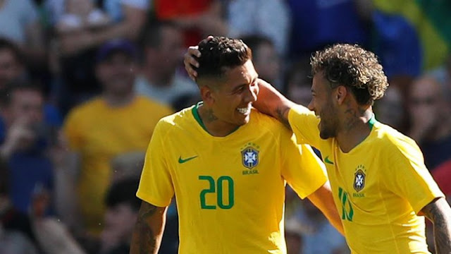 Laga Persahabatan: Neymar dan Firmino Antar Brasil Kalahkan Kroasia
