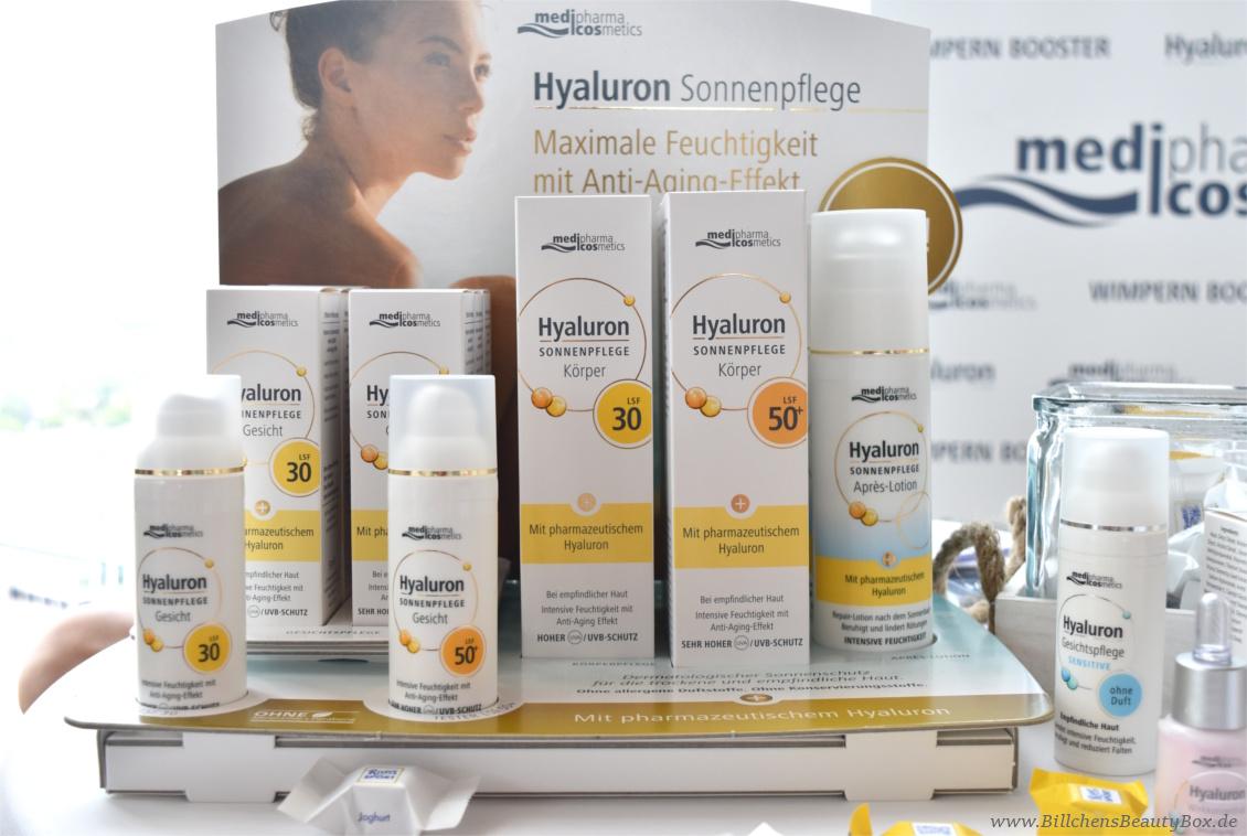 Beautypress Bloggerevent Juli 2017 - medipharma cosmetics Hyaluron Sonnenschutz