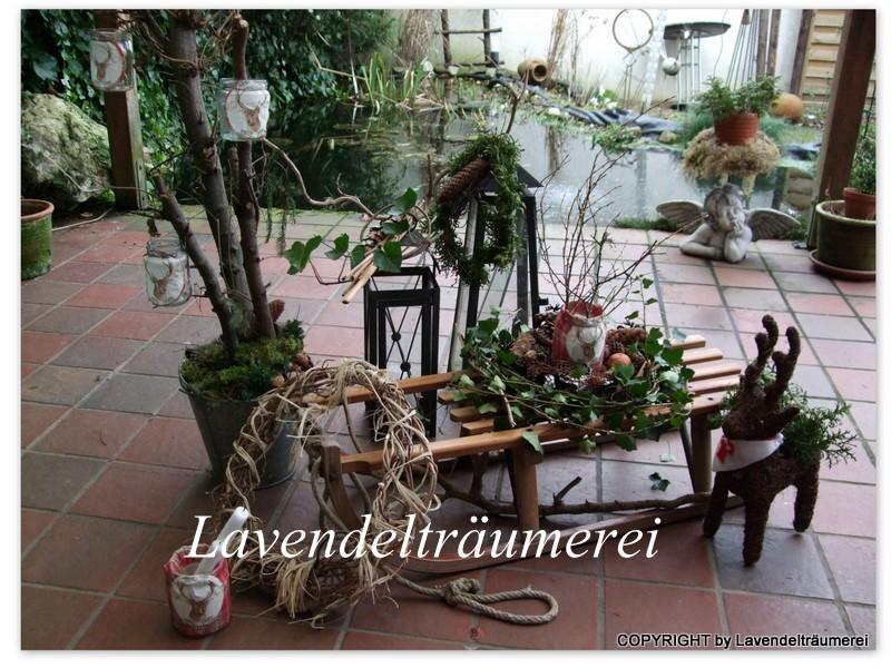 Lavendelträumerei: Winterzeit Auf Der Terrasse