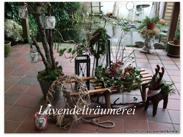 lavendeltr umerei winterzeit auf der terrasse. Black Bedroom Furniture Sets. Home Design Ideas