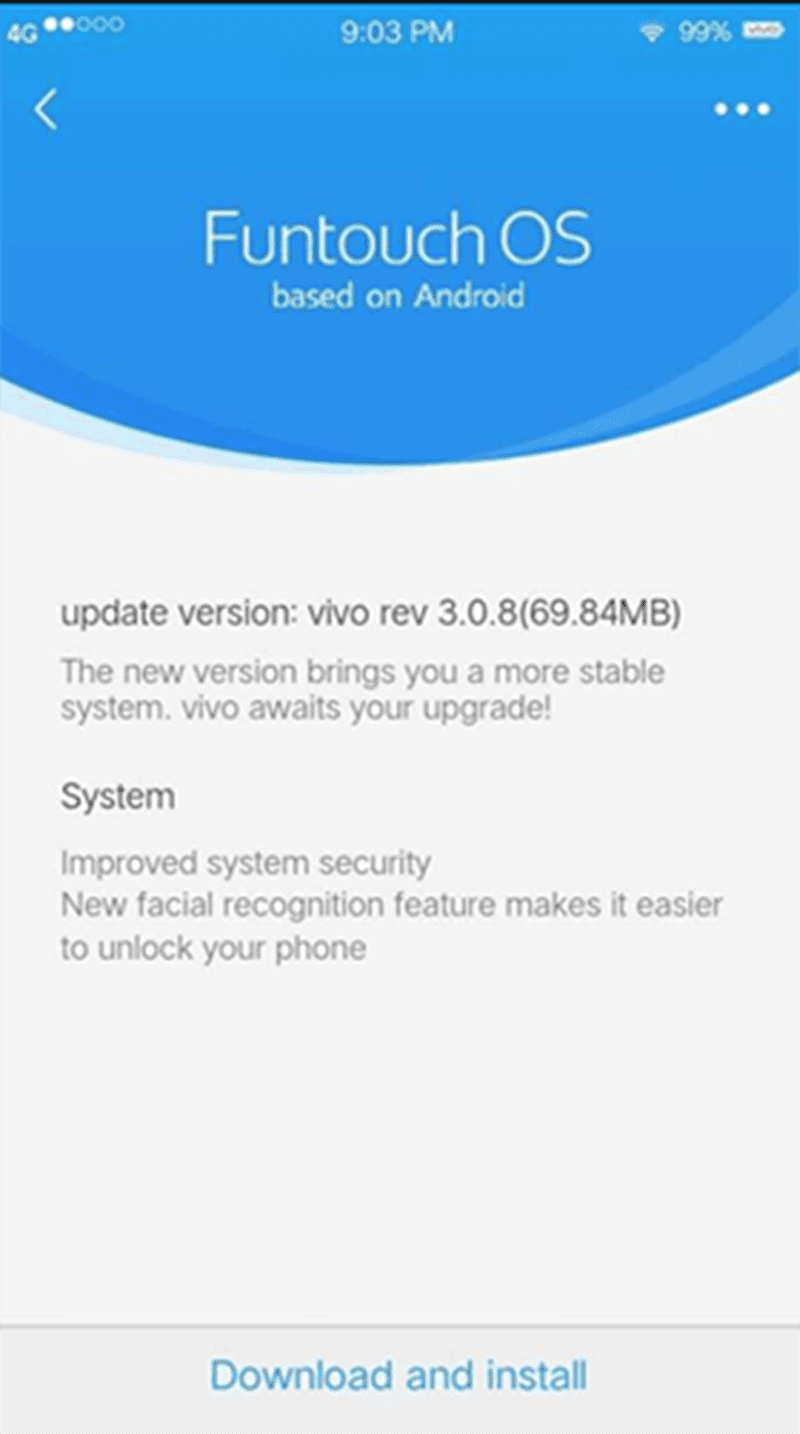 The face unlock update