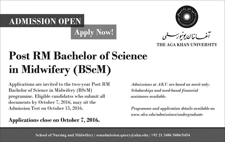 AKU (Aga Khan University) Post RM Bachelor of Science in Midwifery