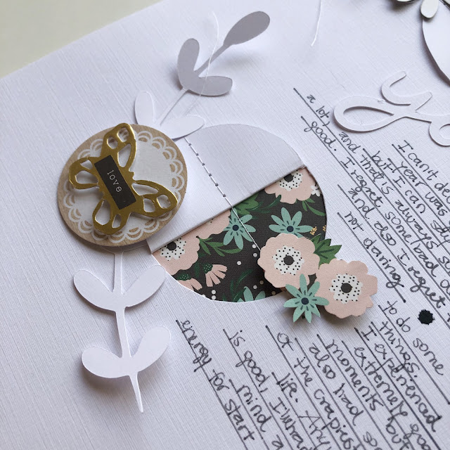 @papelisima is a wiz with die cuts and layers - we love how she transformed her white layout to a beautiful masterpiece with the @pebblesinc products!