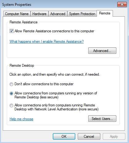 Whitelist: METASPLOIT - Windows 7 - Remote Desktop Protocol