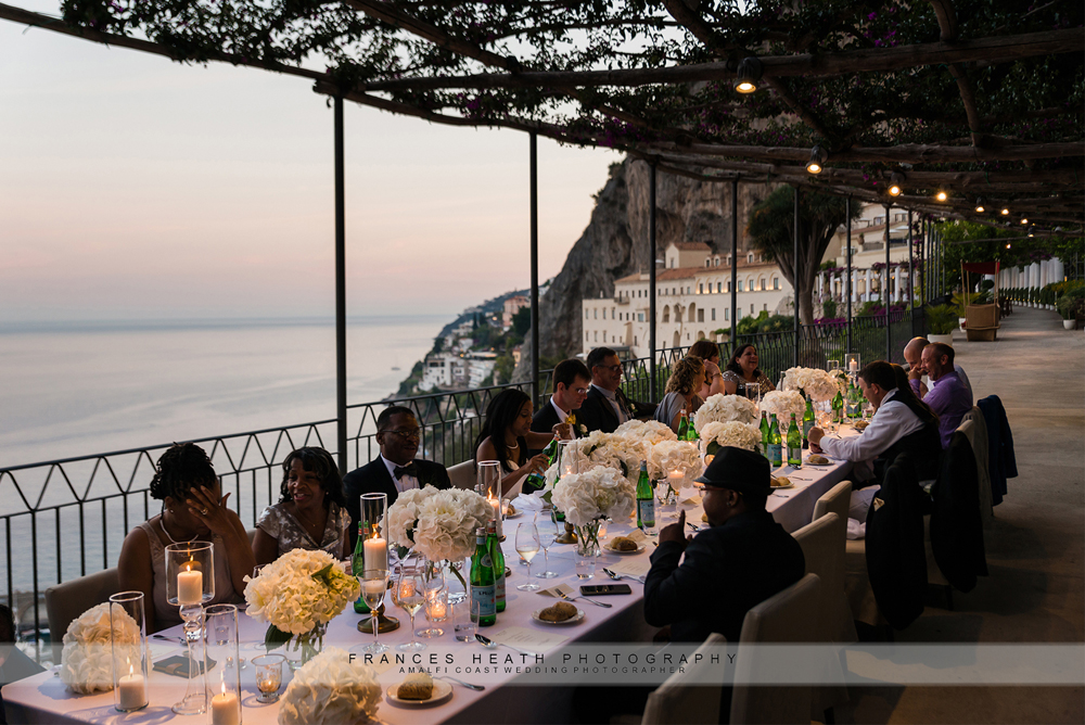 White wedding in Amalfi