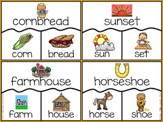 Compound Word flash cards and puzzles