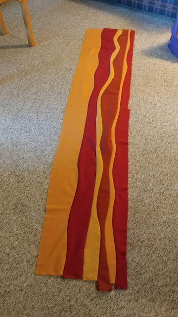 Improv curves giant bacon quilt