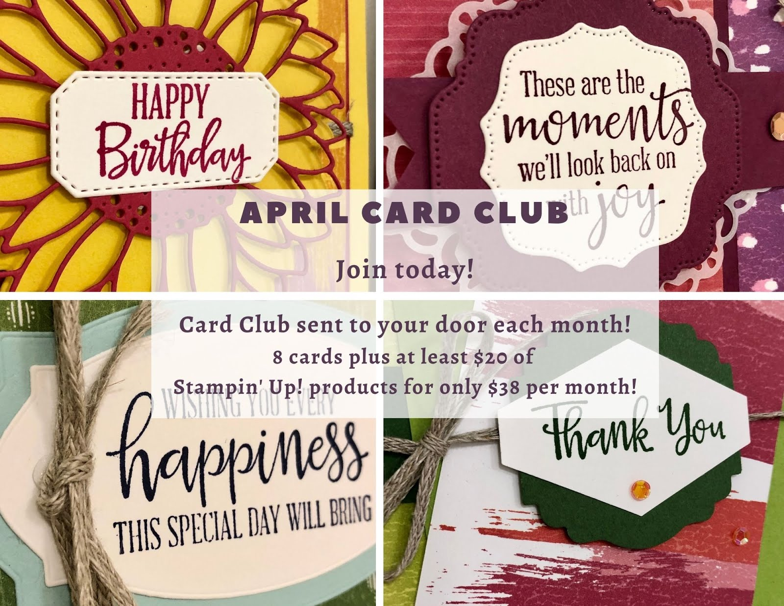 Monthly Card Club