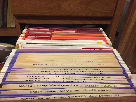 The big, scary genealogy file drawer