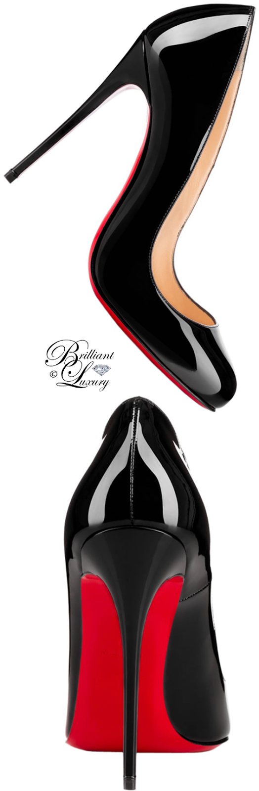Brilliant Luxury ♦ Christian Louboutin Dorissima Round Toe Red Sole Pump