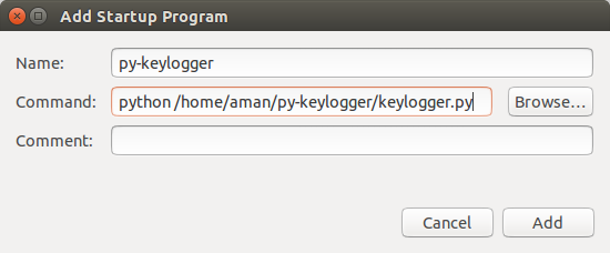 Make a simple basic Keylogger in Python for Linux