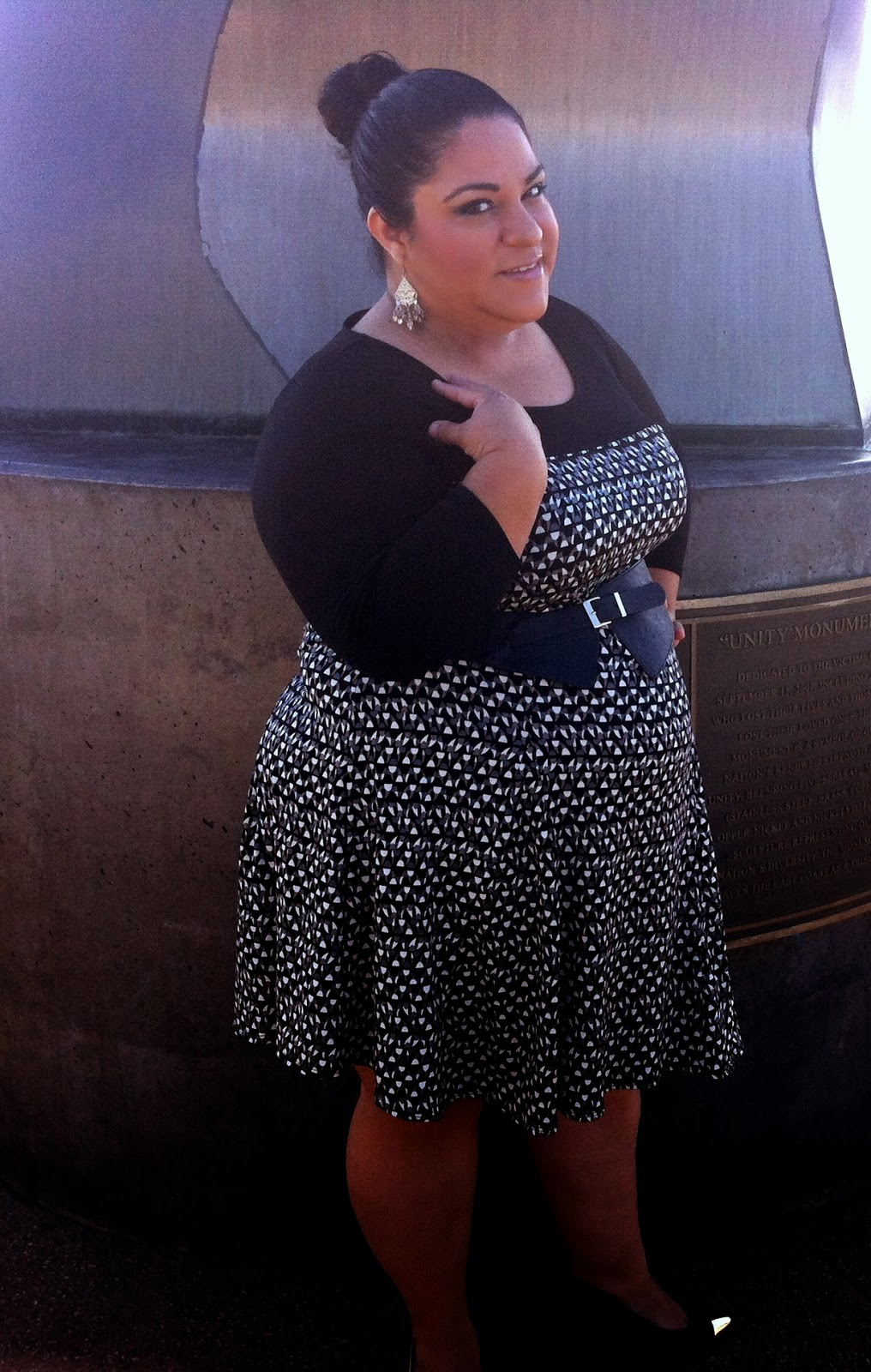 Geometric Dress by New York Collection Woman Outfit Of The Day  BBWGeneration