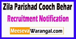 Zila Parishad Cooch Behar Recruitment Notification 2017 Last Date 22-06-2017