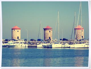 Rhodes, les moulins, Grèce, colosse de Rhodes, chevaliers, unesco, mer égée