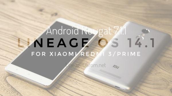 LineageOS 14 1 Official for Xiaomi Redmi 3/Prime - Redmi 3/Prime