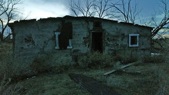 Abandoned building in Model, Colorado ghost town