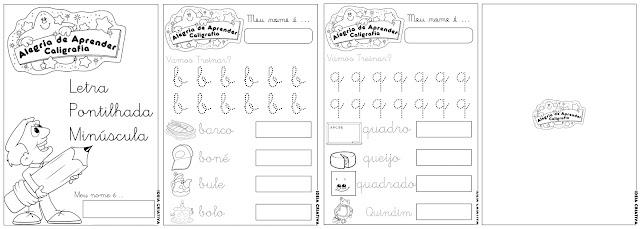 Caderno de Atividades Alegria de Aprender Caligrafia Letra Minúscula
