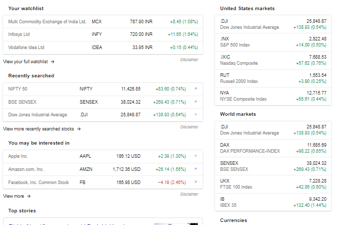 How to use google finance to track your portfolio - Y capital Adviser