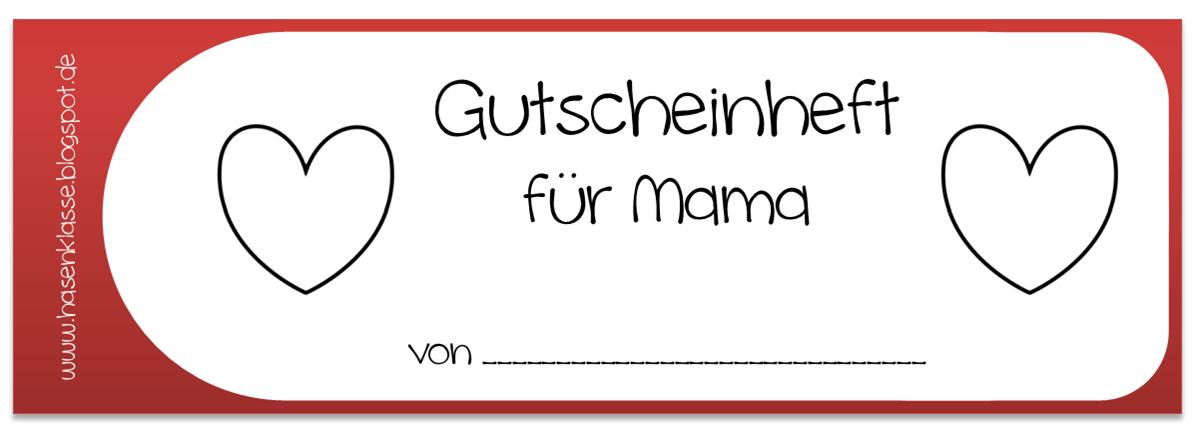 Hasenklasse gutscheinheft zum muttertag for Muttertagsgeschenk grundschule