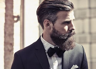 Long comb over haircut with beard