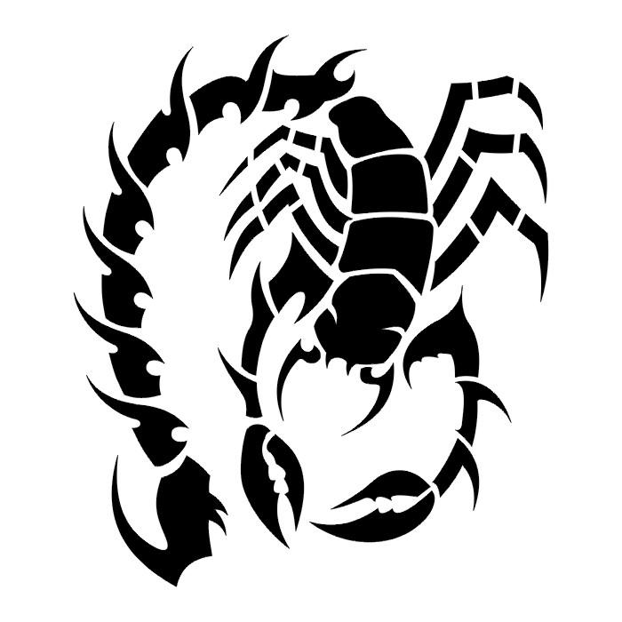 Tattoos scorpion tattoo stencils - Dibujos tribales para tatuar ...