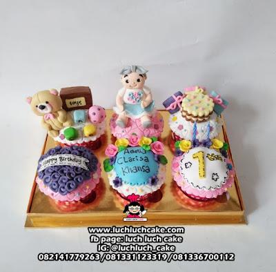 Cupcake Ulang Tahun Anak 1 Tahun