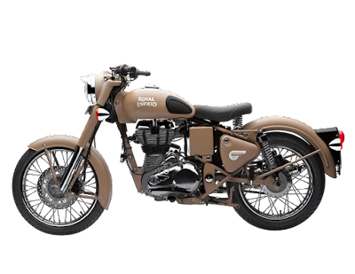 Royal Enfield Classic 500 Desert Storm cruiser motorcycle side image