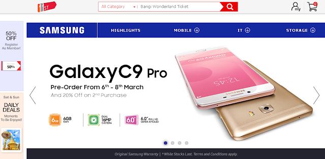 Samsung Asia (samsung.com.my) Partnership With SK Planet ( 11street.my)