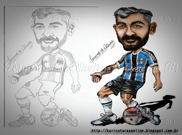 Esboço e Caricatura Douglas Grêmio 2016