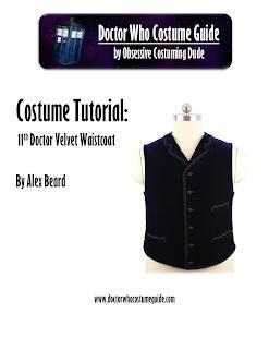 11th Doctor velvet waistcoat tutorial