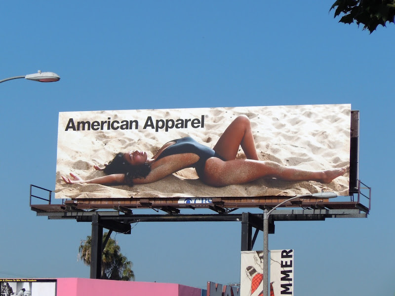 American Apparel Alyssa swimsuit model billboard
