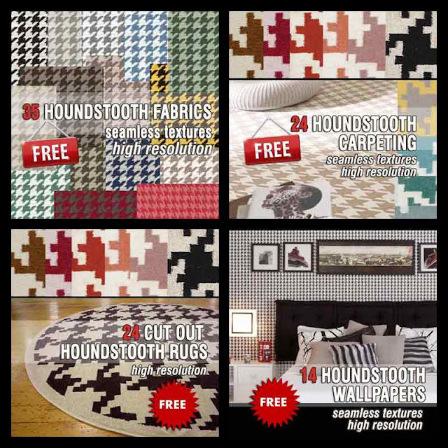 houndstooth seamless textures pack collection