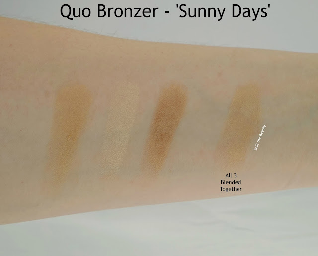 Quo Summer 2016 Limited Edition Summer Collection review sunny days bronzer swatches