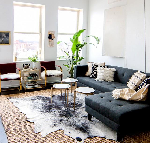 {Mood Board} Modern Boho Living Room | Little House of ...