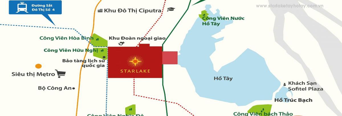 Vị trí Star Lake Tây Hồ Tây